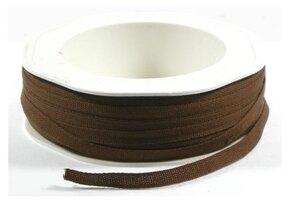 Cotton lint bruin 5mm