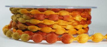 Knotted yarn oranje/zand/roest