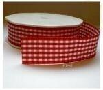Rood geruit lint 25mm