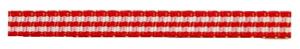 Rood geruit lint 5mm