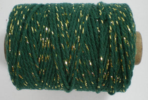 Groen/goud cotton cord