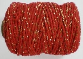 Rood/goud cotton cord