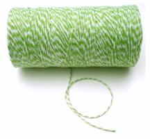 groen/wit koordje, 219 mtr