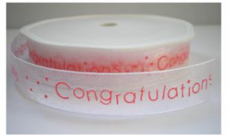 Congratulation lint roze