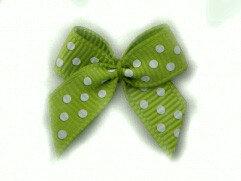 Groen stippen strikjes