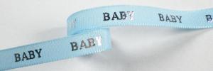 Lichtblauw/zilver baby lint