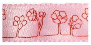 Lichtroze bloemen lint