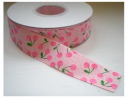 Roze kers lint, 25mm
