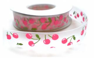 Roze Kersjes lint, organza