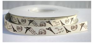 Ivoor/bruin parijs lint,10 mm