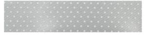 lichtgrijs lint met stipjes, 16mm