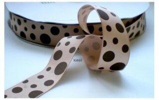 Happy dots bruin, 25 mm