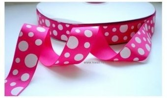 Happy dots hard roze, 25 mm