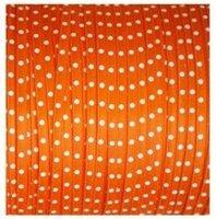 Oranje stipjes lint, 3mm