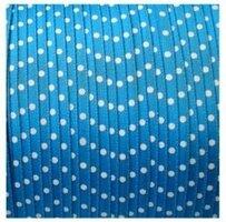 Blauw stipjes lint, 3mm