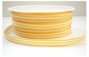 Gestreept lint geel wit