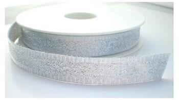 Zilverkleurig lint 15mm