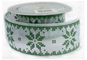 Nordic sneeuwvlok lint groen