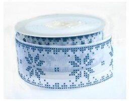Nordic sneeuwvlok lint blauw