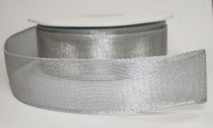 Zilver metallic shine,met draad