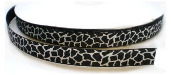 Giraf lint zwart/wit,9mm