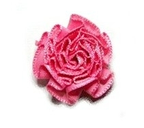 Rozet satijn roze