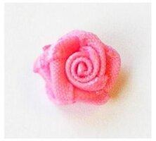 Satijnen roosjes,roze