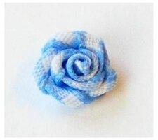 Roosjes blauw geruit