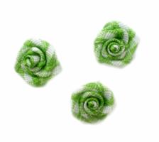 Roosjes groen geruit