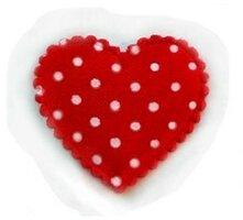 Rode hartjes met stippen,30mm