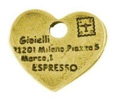 Loveletter goud bedeltjes, 14mm