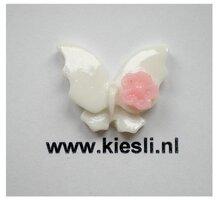 Witte vlinders cabochons