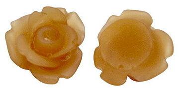 Frozen sienna roosjes cabochons 10mm