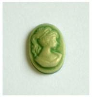 Cabochon lady groen