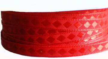 Rood geweven bandje