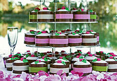 Taartlint chocolate/groen