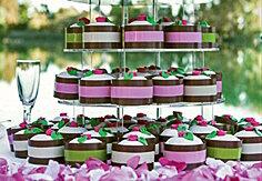 Taartlint chocolate/roze