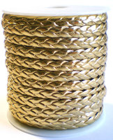 Leather twist goud