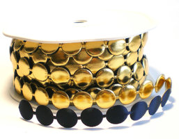 Perla marine/goud bandje