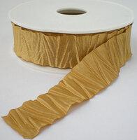 Plisse satijnlint goud, 25mm