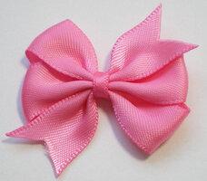 Dubbele strik roze satijn