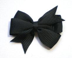 Dubbele strikken zwart grosgrain