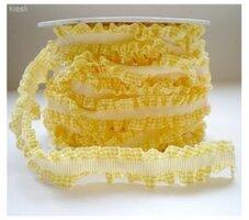 Roezel lint geel geruit,8mtr
