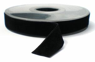 Fluweel lint DZ zwart 15mm