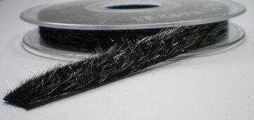 Zwart vachtje van stof 10mm