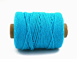Cotton cord, Turquoise