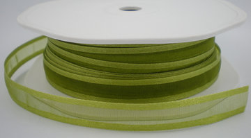 Organza satijn lint groen