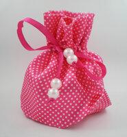Satijn roundbag roze 10st