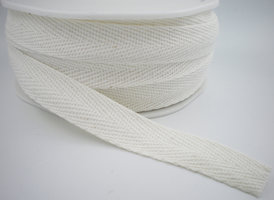 Keperband wit 15mm cotton