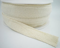 Keperband naturel 15mm cotton
